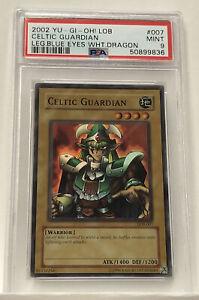 Yu-Gi-Oh Celtic Guardian LOB-007 Super Rare PSA 9 Mint Graded Old School 2002