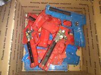 box lot of happ arcade gun parts