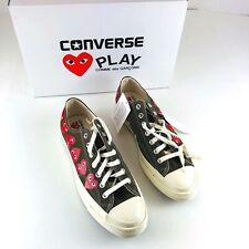 Comme des Garcons Play Converse Chuck Taylor Canvas Sneakers Shoes Men 10 NEW