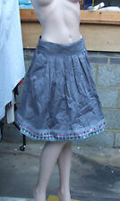 M&S UK 12 Lilmited Collection Wonderful Blue-Grey Full Skirt Decorative Hem FAB!