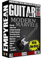 Modern Rock & Metal Guitar Tabs CD-R Digital Lessons Software Windows Mac