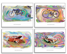 """""""YESTERYEAR II"""" - 12 NOTE CARDS - 3-cards ea. design - w/envelopes - by Kirkley"""