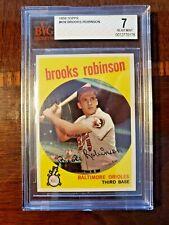 Brooks Robinson 1959 Topps Baseball Card #439 BVG 7 (Super Clean Card!)