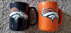 Denver Broncos Coffee Mug with Pewter Logo