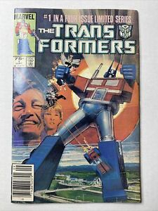 TRANSFORMERS 1 Marvel Limited Series Newsstand Variant 1984  Low Grade