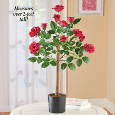 Flowering Red Rose Tree Tabletop Centerpiece