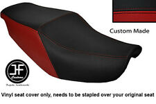 BLACK & DARK RED VINYL CUSTOM FITS HONDA CBR 1000 F 87-88 DUAL SEAT COVER ONLY