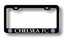 "Black ""CHELSEA FC"" License Plate Frame, Custom Made of Powder Coated Metal"
