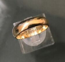 Men's/Women's 9ct Gold Vintage Wedding Band Ring Size O Weight 3.1g Stamped
