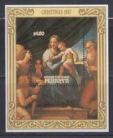 Penrhyn 1987 Christmas Paintings  Sc 358 MS mint hinged