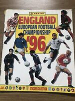 Panini European Football Championship Euro 96 England Sticker Album Complete