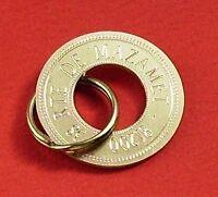Médaille gravee Chien - 2 médailles de MOYENNE taille EN LAITON pour chiens