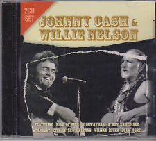 JOHNNY CASH & WILLIE NELSON - LIVE on 2 CD's - NEW -