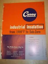 Philip Carey Mfg Co Catalog~Asbestos~Industrial Insulation/Marine Panel~1956