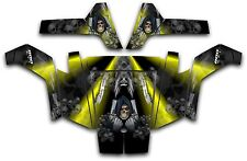 Polaris RZR 800 UTV Wrap Graphics Decal Kit 2007 2010 Reaper Revenge Yellow