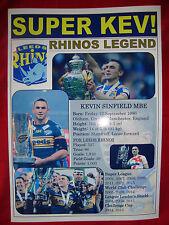 Leeds Rhinos treble 2015 - Kevin Sinfield tribute - souvenir print