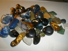 CHOCK FULL OF QUARTZ CRYSTAL & POLISHED STONES - LAPIS TO MOSS AGATES 38 IN ALL