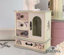 Laura-Fiaba Portagioie con in legno con 4 cassetti