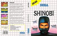 - Shinobi Master System Replacement Box Art Case Insert Cover Only
