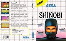 Shinobi Sega Master System Replacement Box Art Case Insert Cover Scan