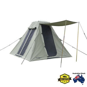 Dune Kimberley 9 Canvas Tent 4-Person 4 Man Camping Camp 4WD Hiking Outdoors