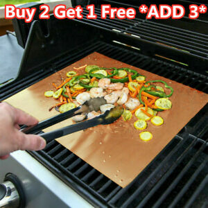 BBQ Grill Mats Reusable Sheet Resistant Non-Stick Barbecue Bake Meat Tray