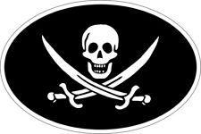 Aufkleber Oval Flagge Code Land Pirat Jack Rackham