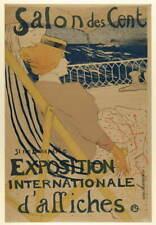 Henri De Toulouse Lautrec Salon Des Cent Poster Reproduction Giclee Canvas Print