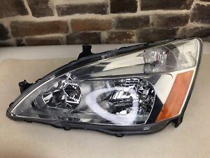 2003-2007 Honda Accord Left Driver Side Headlight OEM With Bulbs