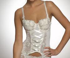 Pour Moi? Elegance Ivory Bridal Basque Multiway Padded Cups Suspenders 32 DD