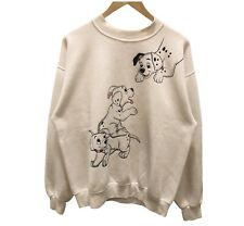 VTG 90s Disney Store 101 Dalmatians Movie White Crewneck SweatShirt Medium