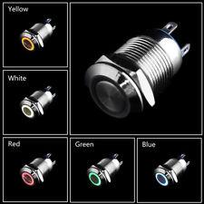 Neue 12 V 16/19/22mm LED Power Druckschalter Momentary Wasserdichtes Metall