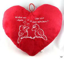 Plüschherz Wollen wir vögeln oder ...i Herz Kissen Valentinstag Plüsch Gebutstag