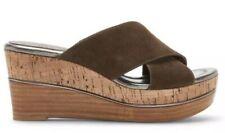 Donald J Pliner Dani2 Suede Wedge Womens Platform Sandals In Khaki Brown 9 M NIB