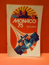 All Original 1975 MONACO Formula 1 Grand Prix F1 Program