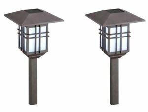 (2) Malibu Solar LED Garden Outdoor Path Hang Yard Landscape Light 300% BRIGHTER