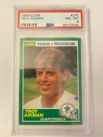 1989 Score Football Troy Aikman ROOKIE RC #270 PSA 8 MINT SP! Great Investment!!