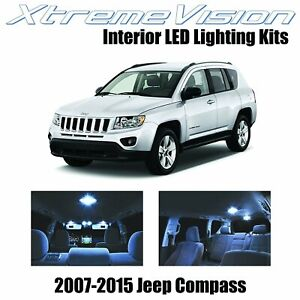XtremeVision LED for Jeep Compass 2007-2015 (4 Pieces) Cool White Premium Interi