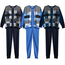 Schlafanzug Pyjama Herren lang Männer Set Langarm M-2XL NEU
