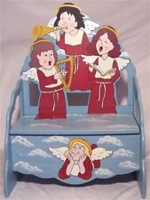 CHRISTMAS COUNTRY ANGEL BENCH WITH STORAGE ~BEAUTIFUL ONLY TWO LEFT
