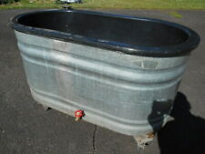 """Used Oval 49"""" Fish Meat Sea Food Display Ice Table Bin w/Drain-Pickup Only 08638"""