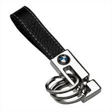 BMW Genuine Leather & Metal 3 Key Ring with BMW Roundel Logo 80232209854