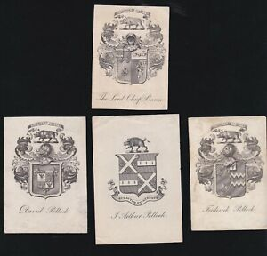 A19. Ex Libris Armorial Bookplates: THE LORD CHIEF BARON + 3 others: All Pollock