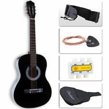 4/4 Guitare Acoustique avec Sac Tuner Médiator Ceinture Pour Débutant Noir