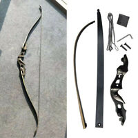 """58"""" Archery Recurve Bow 20-55lbs Takedown Aluminum Bow Riser Hunting Shooting"""