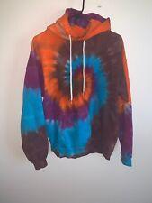 Vintage Tie Dye Hooded Sweatshirt Hanes Medium