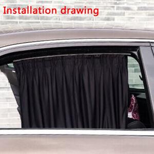 2× Car Side Window Sun Curtain Foldable UV Protection Sun Shade Auto Accessories