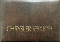 1975 Chrysler Color Upholstery Dealer Album Imperial Cordoba Newport New Yorker