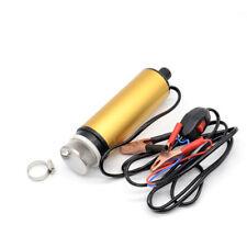 Mini 12V Water Diesel FUEL Oil Pump Belt Submersible Transfer Pump TRANSFER Tool