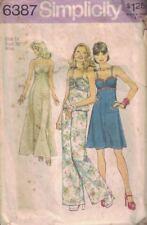 Simplicity 6387 Misses Ruched Front Sun Dress Maxi Dress & Wide-Leg Pants Sz 14